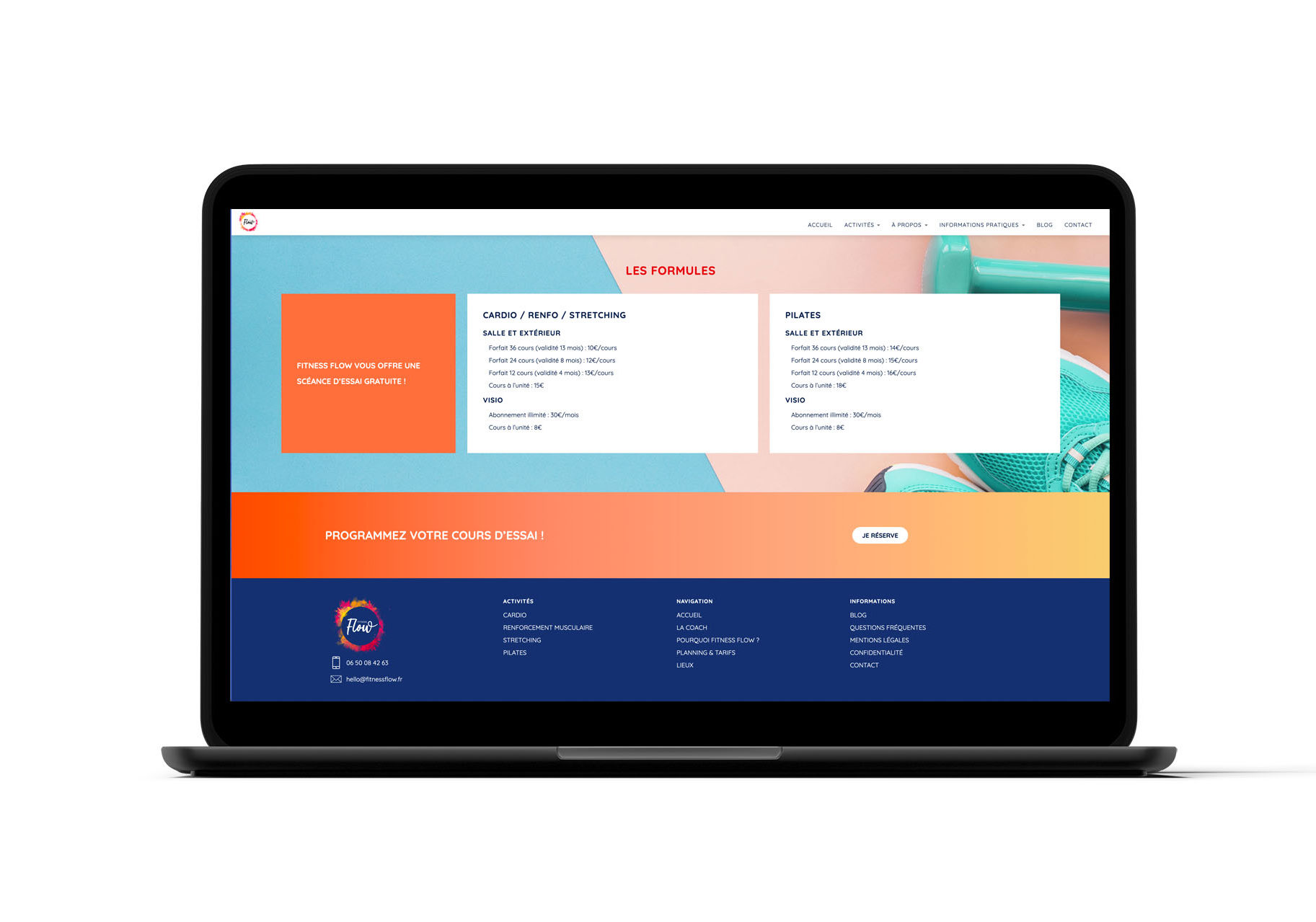 fitnessflow site web